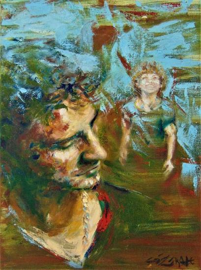Siempre Presente - Gisela Zarate Canvas Oil Portrait