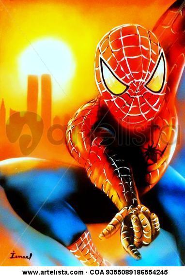 Spiderman Cartulina Grafito Retrato