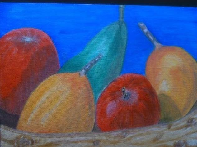 FRUTAS Still Life Paintings Oil Panel