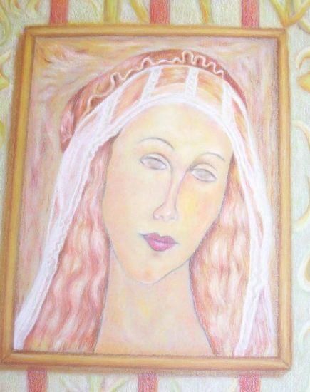 Retrato Pastel Papel
