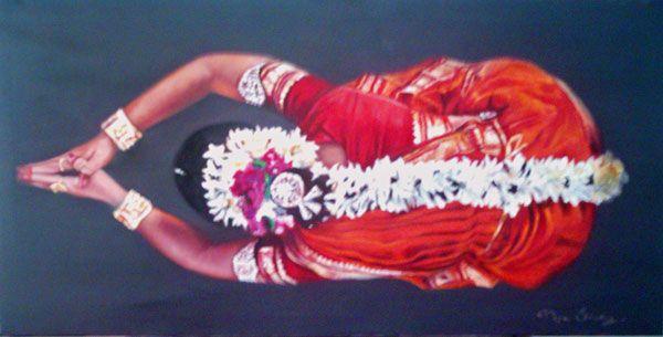 Danza en honor a los Dioses Óleo Lienzo Figura