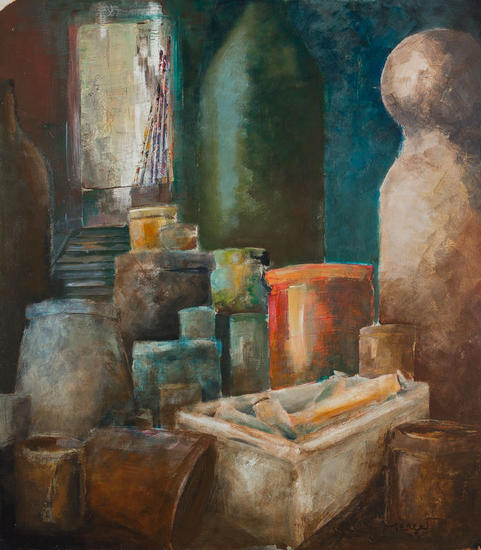 L'atelier 2. Paisaje Acrílico Lienzo