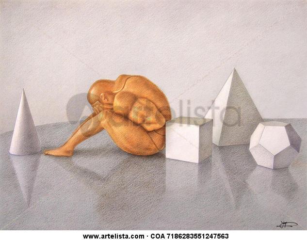 bodegón de poliedros
