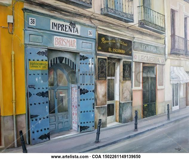 Imprenta Brismar-Madrid Paisaje Óleo Lienzo