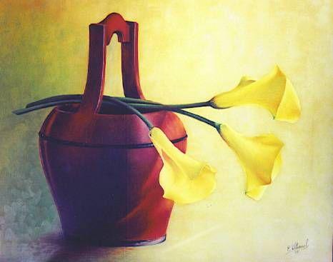 jarrón con flores Óleo Lienzo Floral