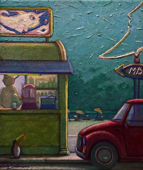 PLAYA DE LA LUZ DE LA LUNA - ( listo para colgar ) Canvas Acrylic Landscaping