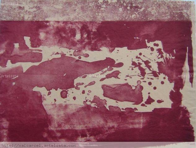 Rojo sangre Monograbado
