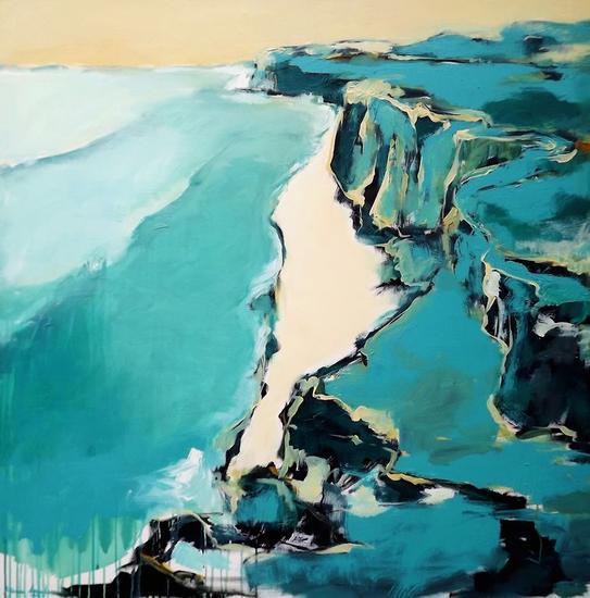 acantilado en azul Lienzo Acrílico Marina