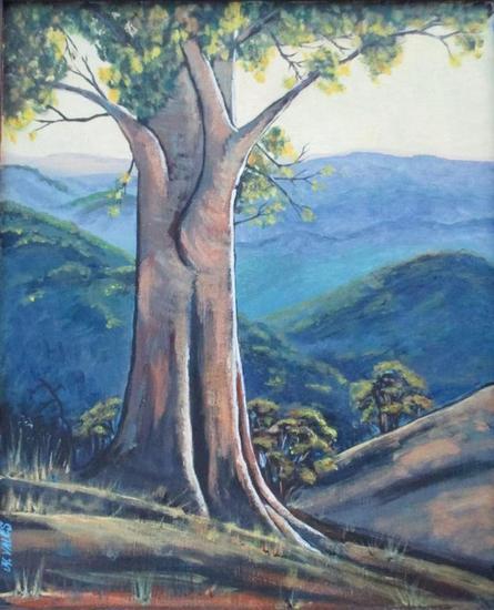 Serie árboles. Tabla Acrílico Paisaje