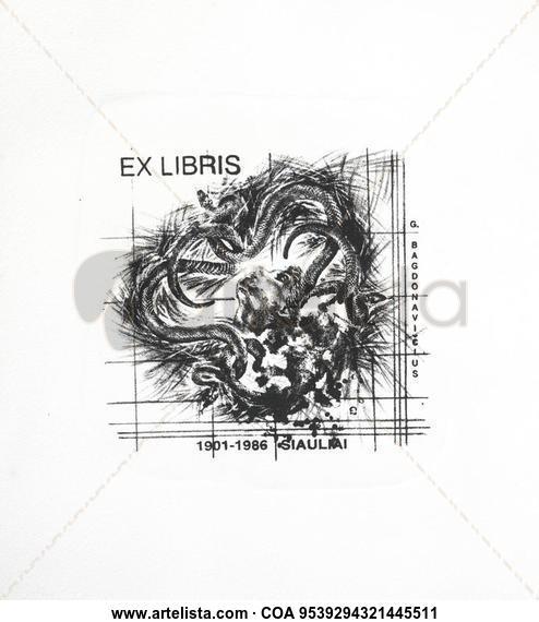 EXLIBRIS SIULAU Litografía