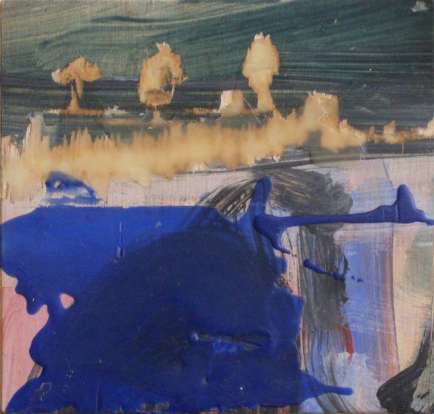 paisaje con mancha azul