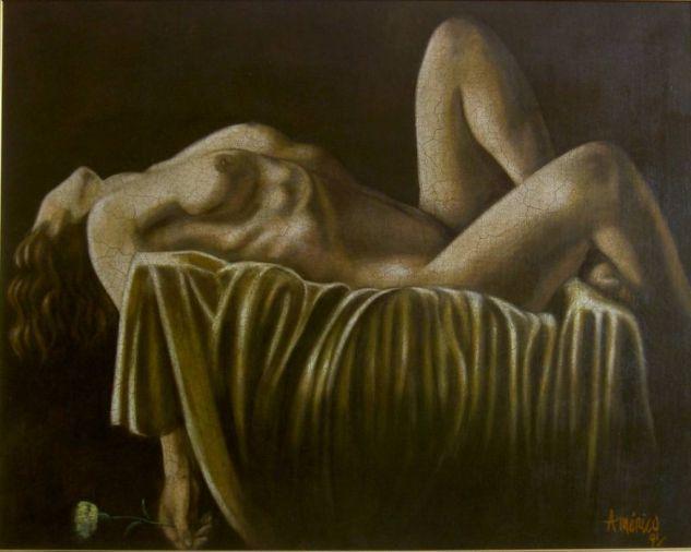 VENUS DORMIDA Óleo Lienzo Desnudos