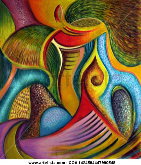 la llama Oil Canvas Figure Painting