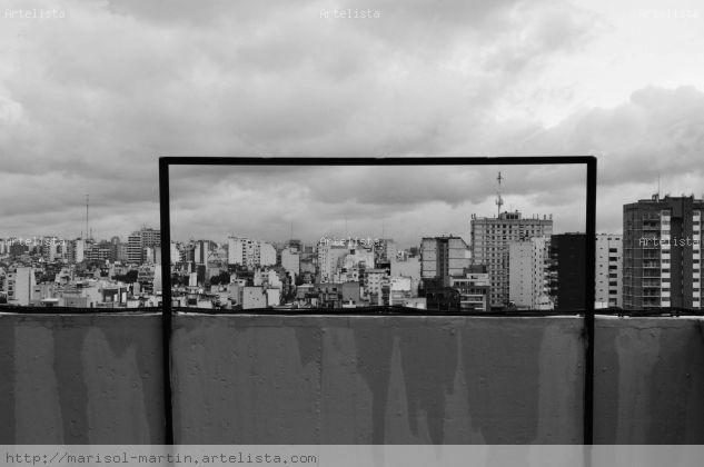 terraza Blanco y Negro (Digital) Arquitectura e interiorismo
