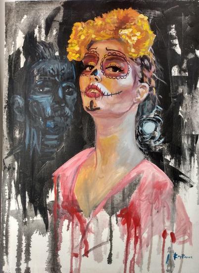 Doña Catrina Portrait Mixed media Canvas