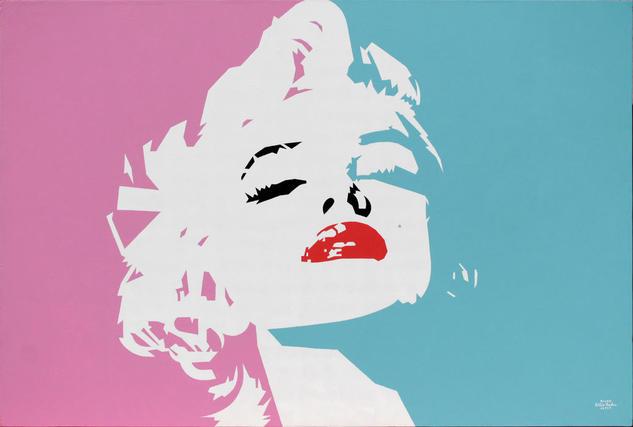 Marilyn Monroe Acrylic Painting Retrato Acrílico Lienzo