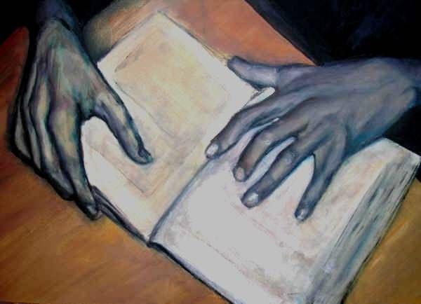 lectura Tabla Acrílico Retrato