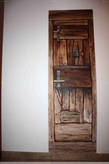 puerta casa antigua Acrílico Otros Otros
