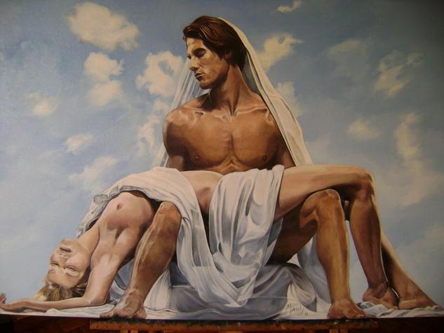 la pareja Lienzo Óleo Figura