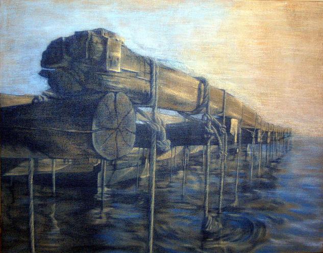 Batea Tela Acrílico Marina