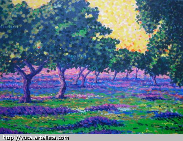 LA DEHESA Canvas Acrylic Landscaping