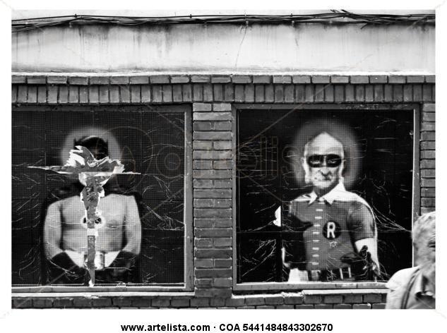 Batman,Robin,Macario Blanco y Negro (Digital) Retrato