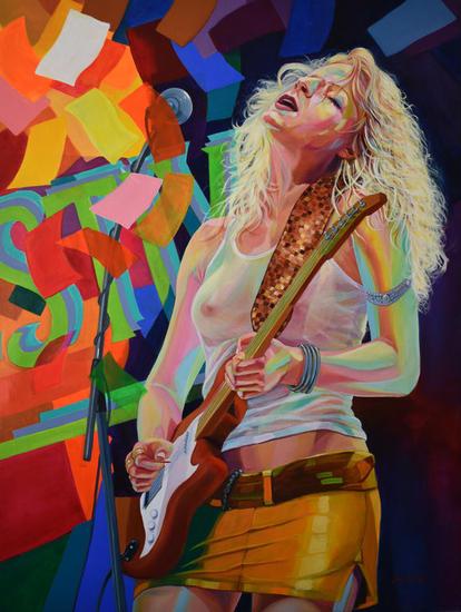 FESTIVAL Figure Painting Canvas Acrylic