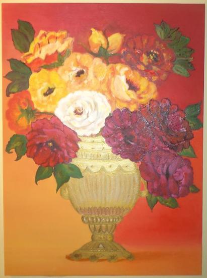 Flowers of rare Tela Óleo Floral