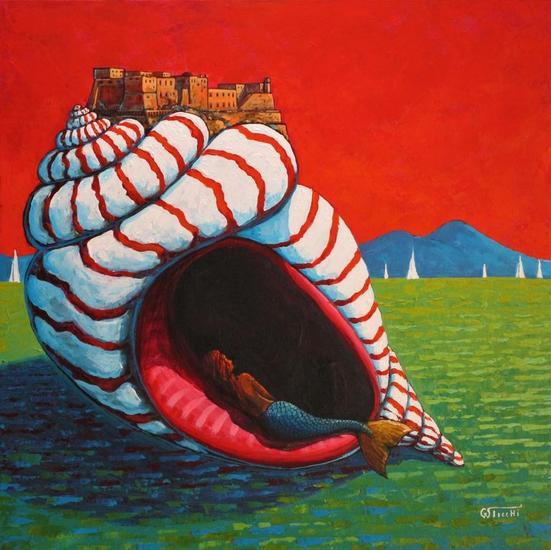 Legende Napoletane 2 Marine Painting Acrylic Textile