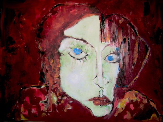 La esposa del profeta Retrato Lienzo Acrílico