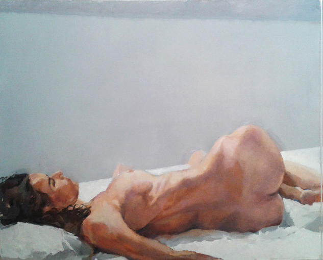 Grey Model Canvas Oil Nude Paintings