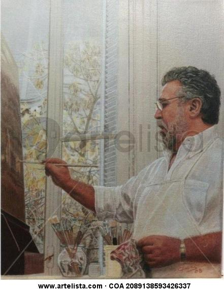 Retrato Jorge Frasca Retrato Tela Óleo