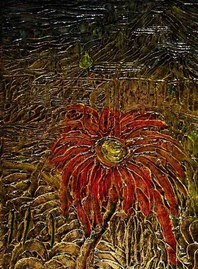 Pintura en relieve por Daniel Pavon Cuellar Lienzo Otros Floral