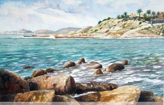 Cabo Huertas (Alicante) Acuarela Papel Marina
