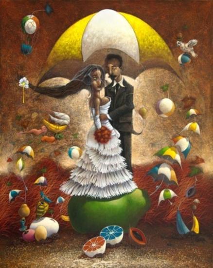 Una boda en Guatemala Canvas Oil Figure Painting