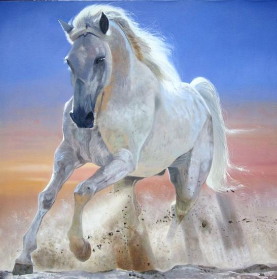 danzando en la arena Animales Óleo Lienzo