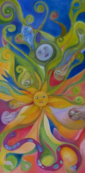 tree of life shining sun