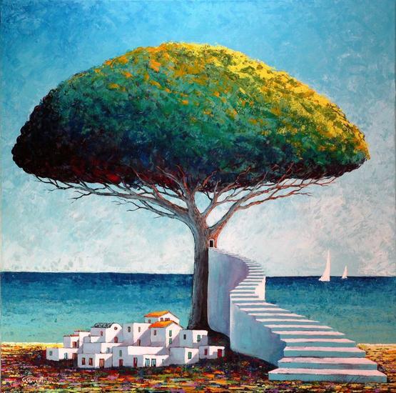 Specialità mediterranee 2 Textile Acrylic Marine Painting