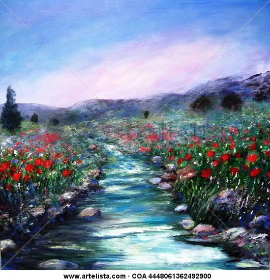 Soñando primaveras XI Panel Acrylic Landscaping