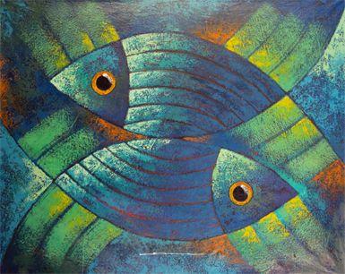 Serie peces luis leonardo letona gonzalez for Cuadros con peces