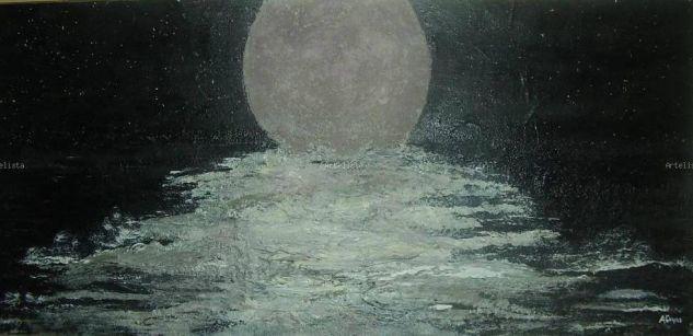 Noche de estrellas Acrílico Tela Marina