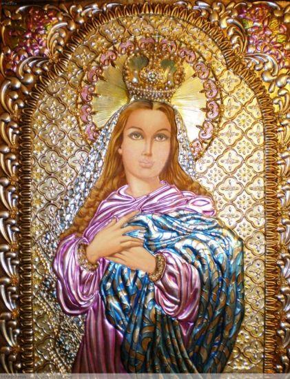 La Inmaculada Linograbado