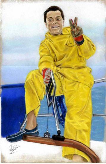 Luis, el navegante Pastel Papel Deportes
