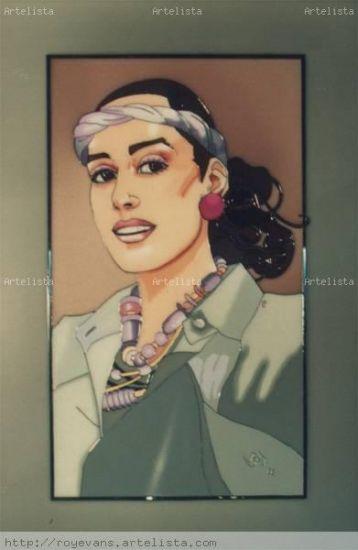 Retrato de C.G. De vidriera Cristal Retrato