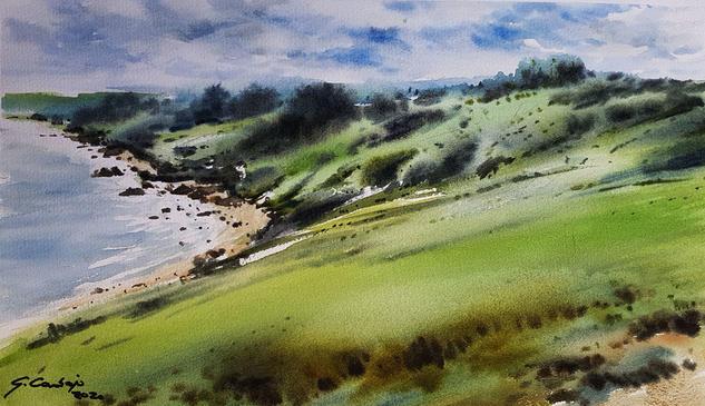 costa cantabrica en gijon Landscaping Watercolour Paper