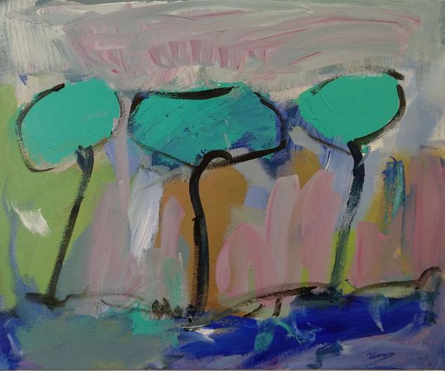 ÁRBOLES DE ABRIL/3 Landscaping Acrylic Canvas
