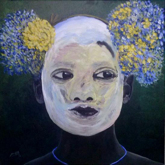 Omo colours IV Tela Acrílico Retrato
