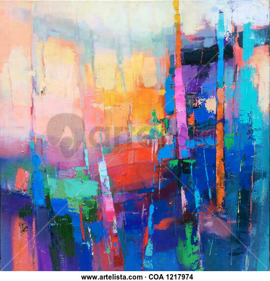 Colorful forrest 818 Others Oil Canvas
