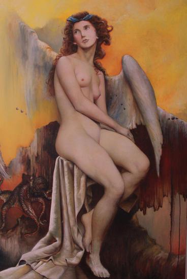 La Dama de Copenhague Lienzo Óleo Desnudos