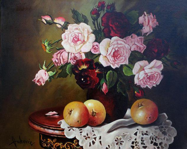 Roses Lienzo Óleo Otros